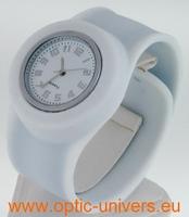 Montre Femme bracelet Clic Clac Softouch Dia 4 cm blanc