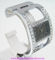 Montre femme bracelet clip strass acier watch uhr