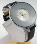 Montre femme acier satin noir watch uhr