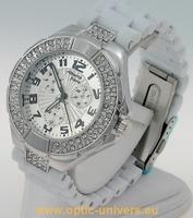 Montre femme softouch blanc strass  watch uhr