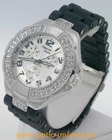 Montre femme softouch noir strass  watch uhr