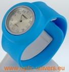 Montre Femme bracelet Clic Clac Softouch Dia 4 cm bleu ciel