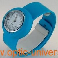 Montre Femme bracelet Clic Clac Softouch Dia 2,8cm turquoise