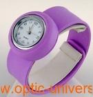 Montre Femme bracelet Clic Clac Softouch Dia 2,8cm mauve