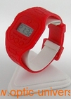 Montre extra plate funny color water resist rouge