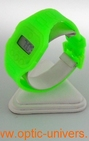 Montre extra plate funny color water resist vert