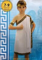 emprereur romain cesar 7/9 ans, deguisement, costume,