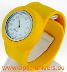 Montre Femme bracelet Clic Clac Softouch Dia 4 cm jaune