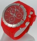 Montre Femme bracelet silicone softouch Dia 4,5 cm rouge