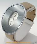 Montre femme ovale bracelet beige ALBERTO FIORO